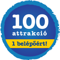 100 attrakció 1 belépőért!