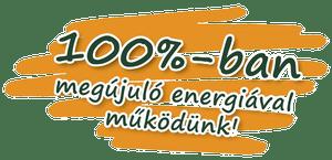 100%-ban megújuló energiával működünk!
